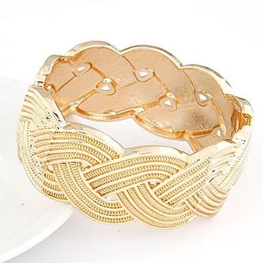 Damskie Bransoletki bangle - Posrebrzany, Pozłacane Twist Circle Vintage, Modny, Duże Bransoletki Gold / Silver / Różowe złoto Na Impreza / Prezent