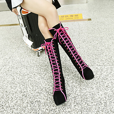 de Femme Bottes Hiver Nubuck semelle compensée rond Cuir Mi 06456635 Automne Mode à Hauteur Chaussures mollet Bottes Bottes la Bout Bottes wrqwPSBg1x