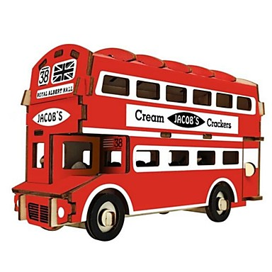 voordelige 3D-puzzels-3D-puzzels Houten puzzels Modelbouwsets Mode Huis Bus Nieuw Design DHZ 1 pcs Klassiek Modieus Kinderen Jongens Meisjes Speeltjes Geschenk