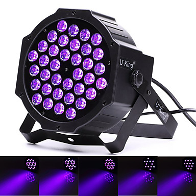 U'King Oświetlenie LED sceniczne DMX 512 Master-Slave Aktywowana Dźwiękiem Pilot zdalnego sterowania 36 na Klub Impreza Obuwie turystyczne