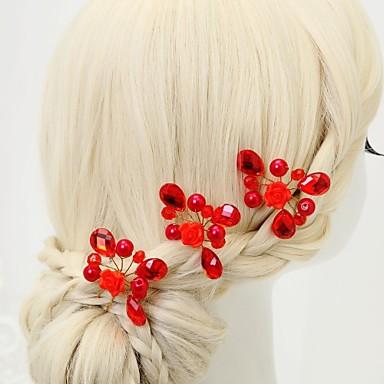 Imitacja pereł Kryształ górski Szpilka do włosów 3 Ślub Specjalne okazje Winieta