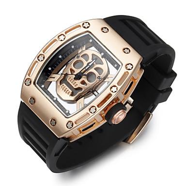 Недорогие Спортивные часы-Муж. Спортивные часы Часы со скелетом Наручные часы Кварцевый силиконовый Черный Творчество Фосфоресцирующий Cool Аналоговый Роскошь Винтаж На каждый день Череп Мода -  / Нержавеющая сталь / Два года