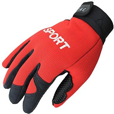 Rękawiczki sportowe Rękawiczki rowerowe Zdatny do noszenia Oddychający Full Finger Włókno syntetyczne Kolarstwie szosowym Kolarstwo /