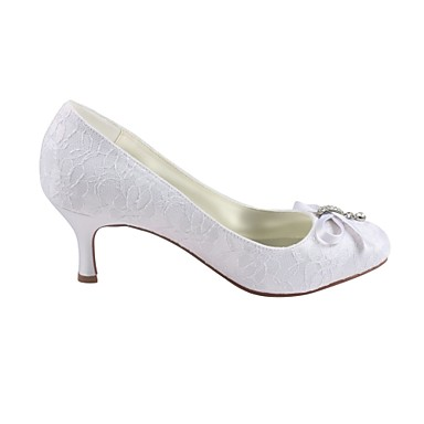 Cristal Blanc Printemps Femme Bout Escarpin rond Chaussures Satin Elastique 06438359 Chaussures Basique de Automne Aiguille Talon mariage wtqF6