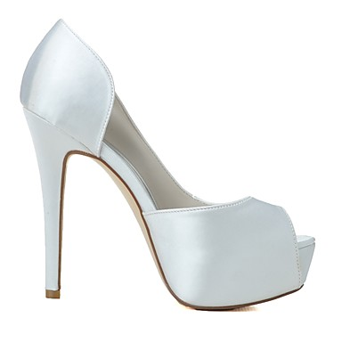 Basique Femme Escarpin Eté Mariage Chaussures Talon de Printemps Bout Aiguille mariage Chaussures ouvert Satin 06439894 Rose Blanc XqSrXR