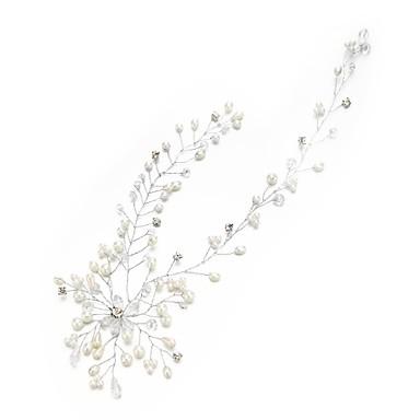 Kryształ / Sztuczna perła / Kryształ górski Opaski na głowę z Kryształ / Sztuczna perła / Kwiat 1 szt. Ślub / Specjalne okazje Winieta