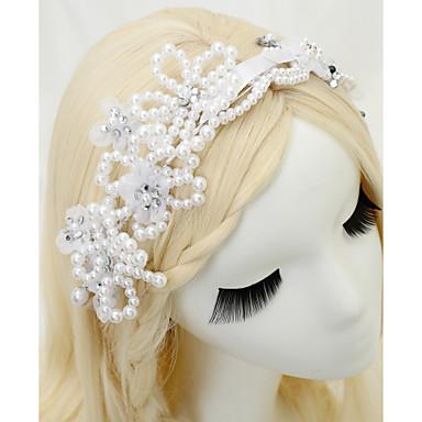 Szyfon Imitacja pereł Kryształ górski Opaski na głowę 1szt Ślub Specjalne okazje Winieta