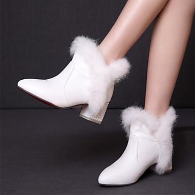 Femme Automne Bottier pointu Talon Botte Bottes Hiver Bottine Demi Chaussures Plume Bout Confort Nouveauté Nubuck 06449265 Botillons Cuir qrFrtv