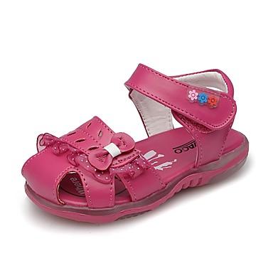בנות נעליים דמוי עור קיץ צעדים ראשונים סנדלים פפיון / סקוטש ל אפרסק / מסיבה וערב