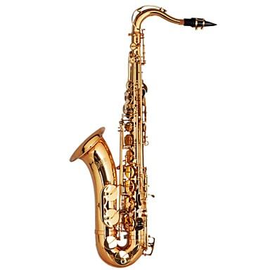 TALLJO Saksofon C601 Tenor Saxophone Bb - Mosiądz Złoty Laquer Profesjonalny, Pośredni, Student
