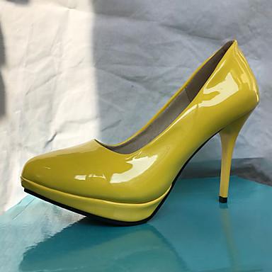 Mujer Zapatos PU Semicuero Sintético Primavera Verano Innovador Confort Tacones Paseo Tacón Stiletto Dedo redondo Hebilla para Oficina y