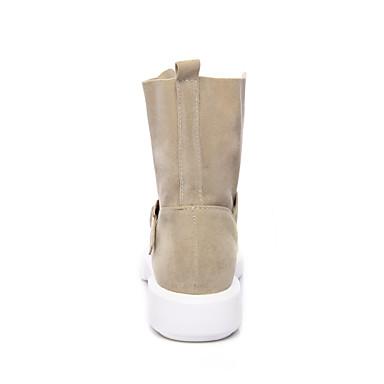 Automne Velours Femme Bottes De Cuir Nubuck Chaussures Hiver 7w7Hfr