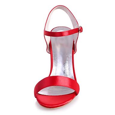 Rouge Chaussures Satin Boucle Talon Sandales Bout Printemps 06416503 ouvert Femme Eté Escarpin Aiguille Bleu Basique Ivoire 7dw7qp5