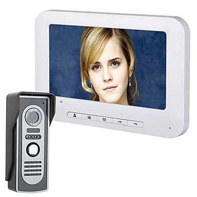 저렴한 컨슈머 전자제품-7 인치 tft 비디오 도어 폰 초인종 인터콤 키트 hd 700tvl 카메라와 1- 카메라 1- 모니터 야간 비전
