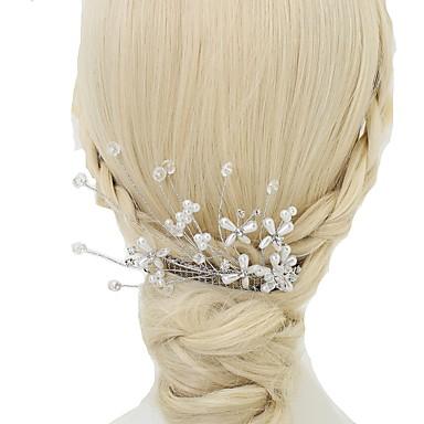 Kryształ / Sztuczna perła / Kryształ górski Grzebienie do włosów z 1 szt. Ślub / Specjalne okazje Winieta