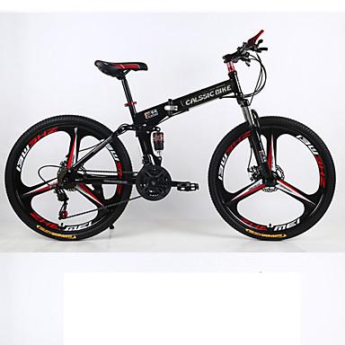 Sito Ufficiale Mountain Bike - Biciclette Pieghevoli Ciclismo 21 Velocità 26 Pollici - 700cc Shimano Doppio Disco Freno Forcella Ammortizzata Sospensione Posteriore Semplici Lega Di Alluminio - Acciaio #05307342 Irrestringibile