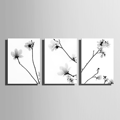 Întins Canvas Art Quiet Flori Set de 3