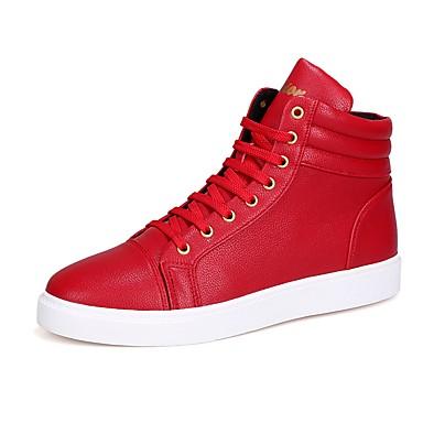 Unisex Fashion Boots Sztuczna skóra Wiosna / Jesień Adidasy Kozaczki / kozaki do kostki Biały / Czarny / Czerwony
