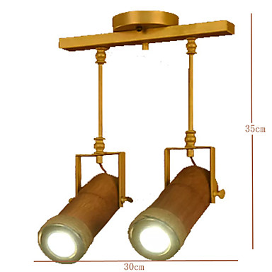 American Country Hemp Bamboo Coffee Personality Hall Ceiling lamps 2