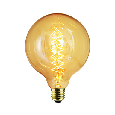 BriLight 1pc 40 W E26 / E27 / E27 G125 Warm White Incandescent Vintage Edison Light Bulb 220-240 V / 110-130 V