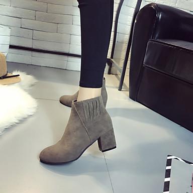 Combat Bottine Automne Chaussures de Bottier Mode la Hiver boîtes Polyuréthane Talon à Bottes 06438515 Cuir Bottes Marche Femme rond Bout nUAxPP