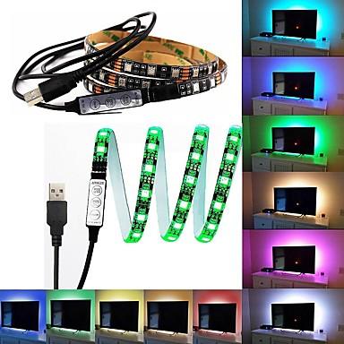 60 Diody LED 1M LED Strip Light 17-klawiszowy pilot zdalnego sterowania RGB Światło w tle telewizora <5V