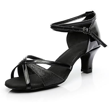 d6a79268f3 Mulheres Sapatos de Dança Latina Materiais Customizados Esporte & lazer /  Salto Salto Baixo Personalizável Sapatos