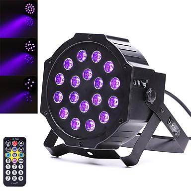 U'King Oświetlenie LED sceniczne DMX 512 Master-Slave Aktywowana Dźwiękiem Pilot zdalnego sterowania 18 na Klub Impreza Obuwie turystyczne