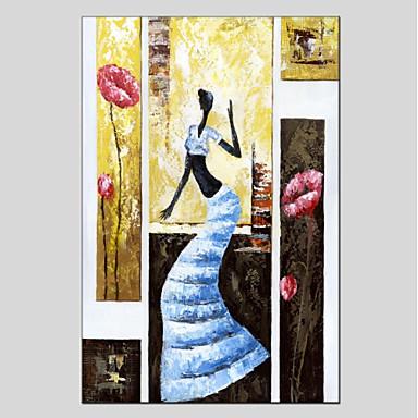 Ręcznie malowane Ludzie Pionowo Panoramiczny, Nowoczesny Brezentowy Hang-Malowane obraz olejny Dekoracja domowa Jeden panel