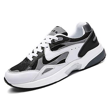 בגדי ריקוד גברים גומי אביב / סתיו נוחות נעלי אתלטיקה לבן / אפור כהה / שחור לבן