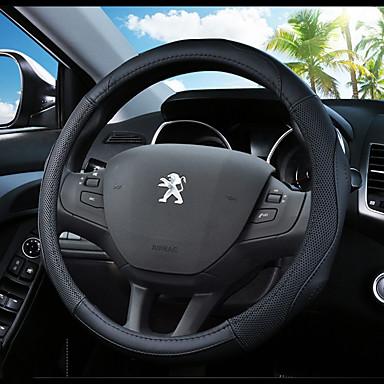voordelige Auto-interieur accessoires-Auto-stuurhoezen aitoa nahkaa 38cm blauw / Zwart / Zwart / Rood Voor Peugeot 307 / 301