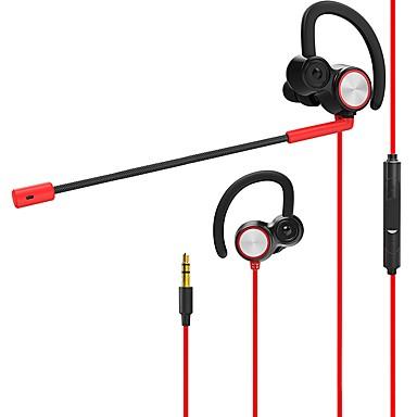 v6 באוזן חוטי אוזניות דִינָמִי PVC (Polyvinylchlorid) / PEVA גיימינג אֹזְנִיָה דרייברים כפולים אוזניות