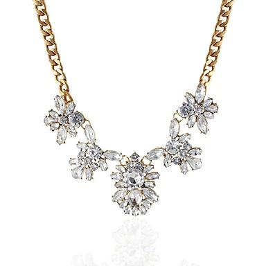 בגדי ריקוד נשים יהלום סינתטי שרשראות תליון - יהלום מדומה קלסי, אופנתי, אלגנטית זהב שרשראות עבור ארוסים, טקס