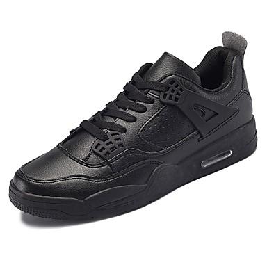 בגדי ריקוד גברים נעליים גומי אביב / סתיו נוחות נעלי ספורט לבן / שחור / אדום