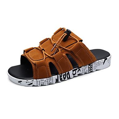Men's Rubber Summer Comfort Sandals Brown / Black / Gray