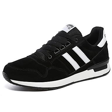 אור סוליות עור נובוק / עור / PU סתיו / חורף נוחות נעלי ספורט ריצה פסים אפור / אדום / ירוק / קולור בלוק
