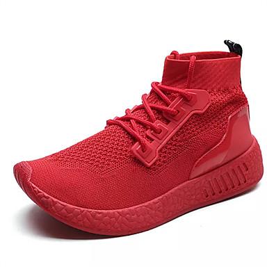 בגדי ריקוד גברים נעליים PU סתיו נוחות מגפיים שחור / אדום