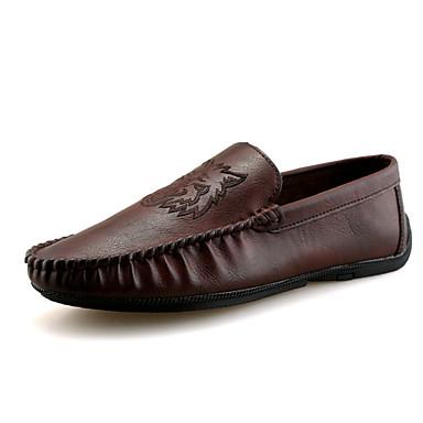 נעלי נהיגה מיקרופייבר אביב / קיץ נוחות / נעלי צלילה נעליים ללא שרוכים שחור / חום / חאקי