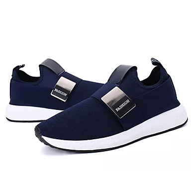 בגדי ריקוד גברים נעליים טול אביב / סתיו נוחות נעלי אתלטיקה שחור / כחול כהה / אפור / ריצה