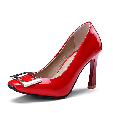 בגדי ריקוד נשים נעליים דמוי עור אביב / סתיו בלרינה בייסיק עקבים עקב רחב בוהן מרובעת לבן / שחור / אדום / מסיבה וערב / מסיבה וערב