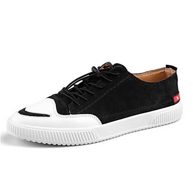 בגדי ריקוד גברים גומי אביב / סתיו נוחות נעלי ספורט שחור / אפור