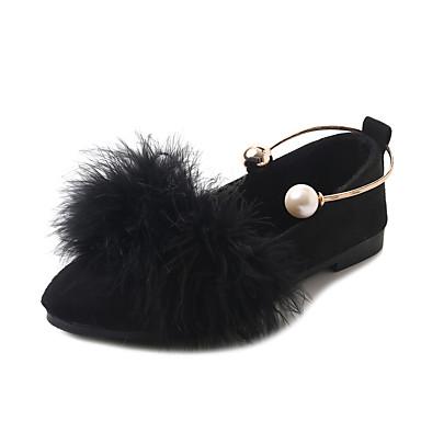 נעליים PU אביב / סתיו נוחות נעליים ללא שרוכים שטוח שחור / אפור / חום
