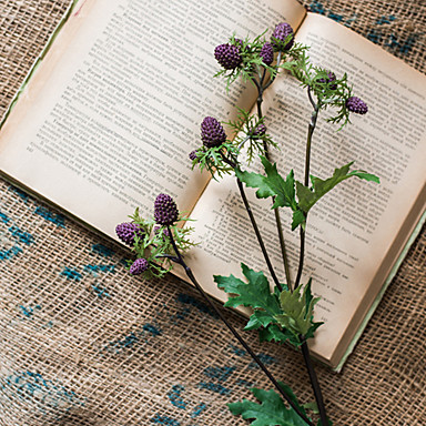 פרחים מלאכותיים 1 ענף פסטורלי סגנון פירות פרחים לשולחן