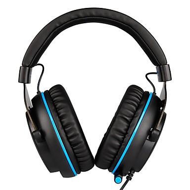 SADES R3 רצועת ראש חוטי אוזניות דִינָמִי פלסטי גיימינג אֹזְנִיָה עם מיקרופון / עם בקרת עוצמת הקול אוזניות