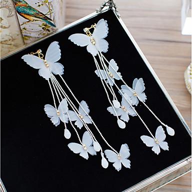 halpa Korvakorut-Naisten Kristalli Klipsikorvakorut Flower Rusetti Tyylikäs korvakorut Korut Valkoinen Käyttötarkoitus Häät Pyhäpäivä 1