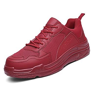 נעליים PU טול אביב סתיו נוחות נעלי אתלטיקה ל אתלטי קזו'אל לבן שחור אדום