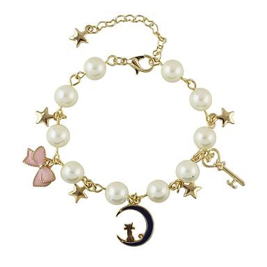 בגדי ריקוד נשים שרשרת וצמידים - פפיון בסיסי, אופנתי צמידים זהב עבור יומי / פגישה (דייט)
