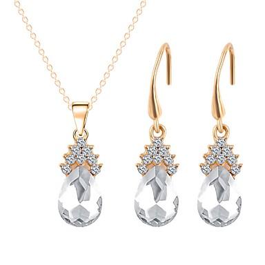 בגדי ריקוד נשים סט תכשיטים - ציפוי זהב קלסי, אופנתי לִכלוֹל שרשרת לבן עבור חתונה / מתנה