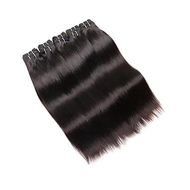 שיער ברזיאלי ישר שיער אנושי טווה שיער אדם שוזרת שיער אנושי תוספות שיער אדם