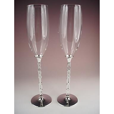 billige Sjampagneglass-Glass / Sinklegering Riste Fløyter Gaveeske Karakterer / Bryllup Alle årstider